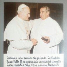 Postales: POSTAL ESTAMPA PAPA JUAN PABLO II BENDICION. Lote 116518082