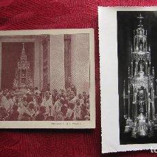 Postales: 2 POSTALES /FOTOS RELIGIOSAS: CUSTODIA TOLEDO. FOTOS S. VALDES Y RODRIGUEZ. MUY ANTIGUAS. Lote 116526987