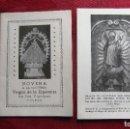 Postales: NOVENA A VIRGEN DE LA ESPERANZA DE 1952,36 PAG. Y PEREGRINACION SANTIAGO APOSTOL AL PILAR DE 1973.. Lote 116620839