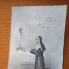 Postales: ESTAMPA POSTAL RELIGIOSA SANTA RITA EDICIONES MB AÑOS 40. Lote 116772678