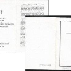 Postales: RECORDATORIO DEFUNCIÓN FRANCISCO FRANCO -AÑO 1975. Lote 117042411