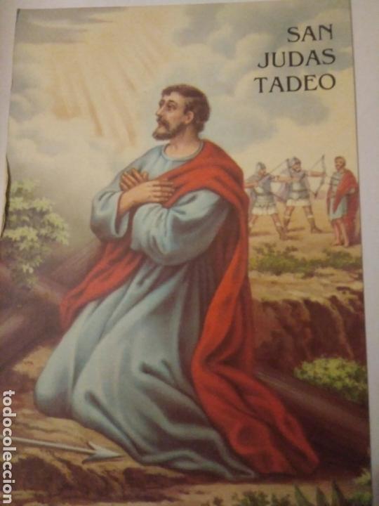 Antigua Postal Dibujo San Judas Tadeo Arrodilla Comprar Postales