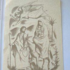 Postales: ESTAMPA PAPEL ORACIONES JESUS EMIGRANTE .JUAN PABLO-HB AÑOS 70. Lote 117523728