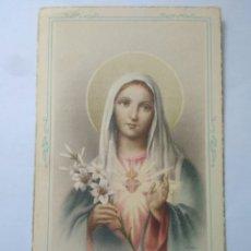 Postales: PRECIOSA ESTAMPA RECUERDO ARCHICOFRADE DEL CORAZON DE MARIA AÑO 1957 VIRGEN FATIMA VER FOTOS. Lote 117525071