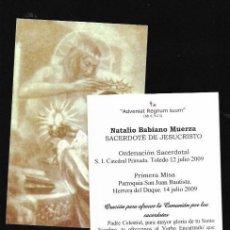 Cartoline: ESTAMPA * ORDENACIÓN SACERDOTAL NATALIO BABIANO * HERRERA DEL DUQUE 2009. Lote 233714620