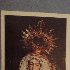 Postales: RECUERDO SOLEMNE SEPTENARIO.HERMANDAD SIERVOS.VIRGEN DE LOS DOLORES.CARMONA.SEVILLA 1984. Lote 118109335