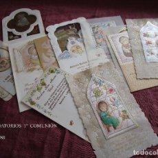 Postales: LOTE DE 9 RECORDATORIOS DE PRIMERA COMUNIÓN AÑOS 1986 Y 1988. Lote 118668695