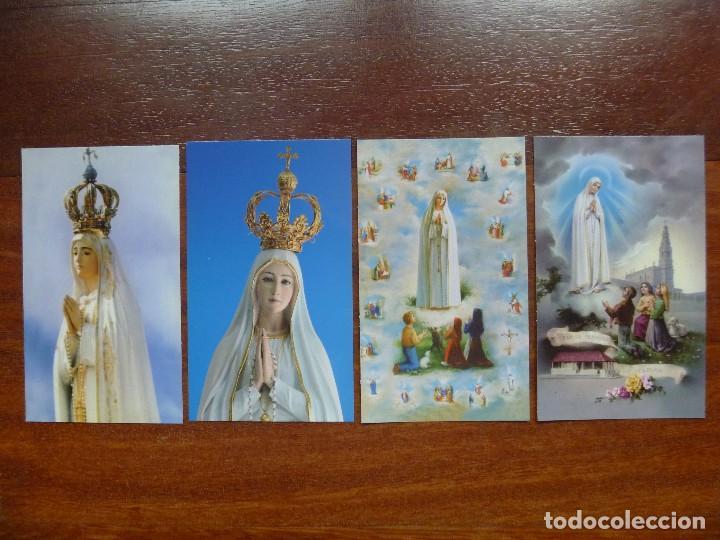 ESTAMPA NUESTRA SEÑORA FÁTIMA LOTE 4 RECORDATORIOS (Postales - Postales Temáticas - Religiosas y Recordatorios)