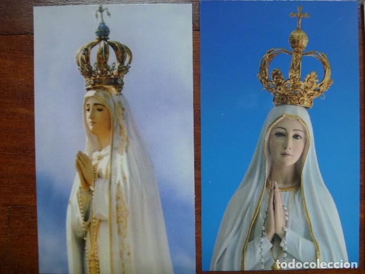 Postales: Estampa nuestra señora Fátima lote 4 recordatorios - Foto 2 - 118724679