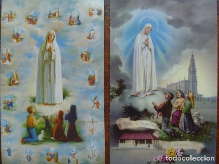 Postales: Estampa nuestra señora Fátima lote 4 recordatorios - Foto 3 - 118724679