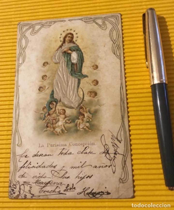 ANTIGUA POSTAL LA PURÍSIMA CONCEPCIÓN (Postales - Postales Temáticas - Religiosas y Recordatorios)