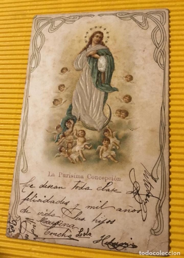 Postales: Antigua postal la Purísima Concepción - Foto 2 - 118761111