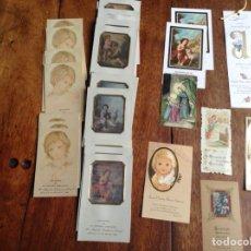 Postales: LOTE DE 45 RECORDATORIOS PRIMERA COMUNIÓN AÑOS1909, 1926, 1973,1950,1984. Lote 118823278