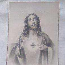 Postales: ANTIGUA TARJETA POSTAL SIN CIRCULAR AÑOS 40 - SAGRADO CORAZON DE JESÚS -BORDE DORADO. Lote 118835668