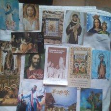 Postales: LOTE 16 ESTAMPAS RELIGIOSAS SANTOS VIRGEN ORACIONES. Lote 118838834