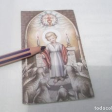 Postales: ANTIGUO RECORDATORIO NIÑO JESUS . DIBUJOS CON FIRMA . Lote 118847271