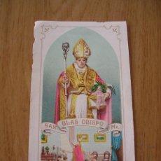 Postales: ESTAMPA RELIGIOSA MODERNISTA, SAN BLAS . Lote 118858083