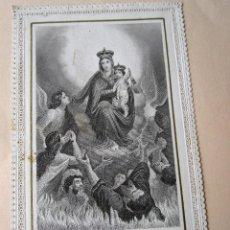 Postales: ANTIGUA ESTAMPA PUNTILLAS NTRA. SRA. DEL CARMELO EDIT: L.TURGIS PARÍS. NUMERADA. 582. 11 X 7 CM. Lote 118950191