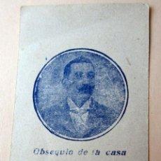 Postales: ANTIGUA ESTAMPA RELIGIOSA. OBSEQUIO DE LA CASA GREGORIO ABELLO, GRAN FÁBRICA DE RICOS CHOCOLATES. Lote 118955827