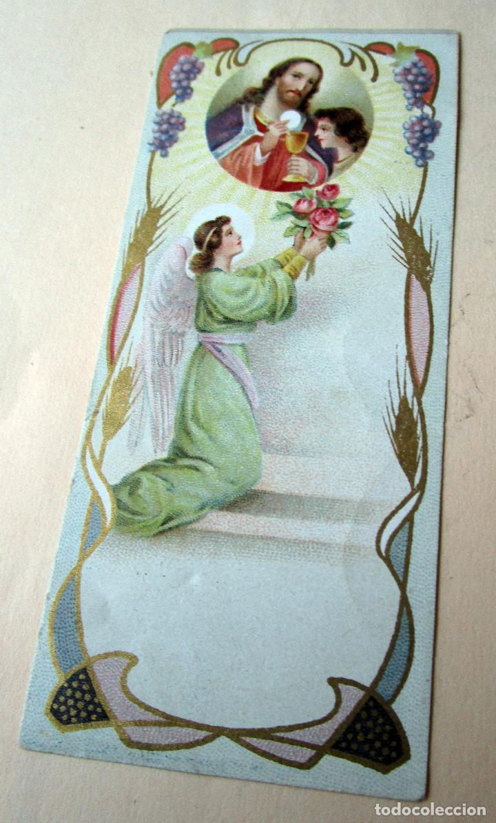 Postales: Antigua estampa religiosa. Obsequio de la casa Gregorio Abello, Gran Fábrica de ricos Chocolates - Foto 2 - 118955827