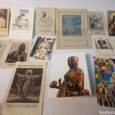 Postales: LOTE 14 ESTAMPAS RELIGIOSAS. Lote 119259119