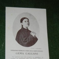 Postales: DIPTICO GLORIFICACION GEMA GALGANI.. Lote 119543191