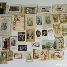 Postales: COLECCION DE 235 ESTAMPAS RELIGIOSAS. PAPEL IMPRESO. SIGLO XIX-XX. . Lote 119848159