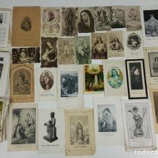 Postales: COLECCION DE 135 ESTAMPAS RELIGIOSAS. PAPEL IMPRESO. SIGLO XIX-XX. . Lote 119850687
