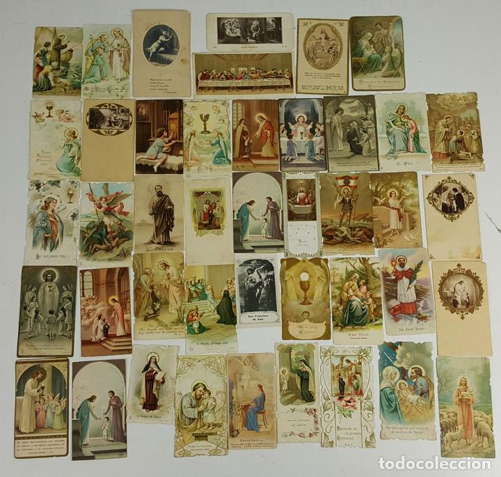 COLECCIÓN DE 43 ESTAMPAS RELIGIOSAS. ESPAÑA. SIGLO XX. (Postales - Postales Temáticas - Religiosas y Recordatorios)