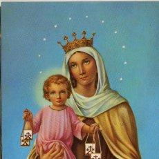 Postales: POSTAL RELIGIOSA . NTRA. SRA DEL CARMEN. Lote 119953203