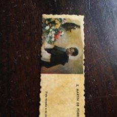 Postales: ANTIGUA RELIQUIA ORIGINAL SAN MARTIN DE PORRES . Lote 120239371