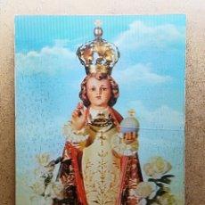 Postales: POSTAL ESCRITA - NIÑO JESUS DE PRAGA - POSTAL - REFLECTANTE. Lote 143722120