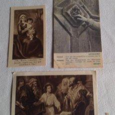Postales: ANTIGUOS RECORDATORIOS ORACIONES RELIGIOSAS. Lote 121431675