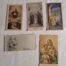 Postales: ANTIGUOS RECORDATORIOS - ORACIONES RELIGIOSAS. Lote 121431927