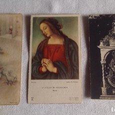 Postales: ANTIGUOS RECORDATORIOS - ORACIONES RELIGIOSAS. Lote 121432095