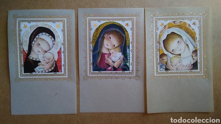 LOTE 3 ESTAMPAS RECUERDO RECORDATORIO COMUNION AÑOS 80 (Postales - Postales Temáticas - Religiosas y Recordatorios)