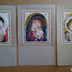 Postales: LOTE 3 ESTAMPAS RECUERDO RECORDATORIO COMUNION AÑOS 80. Lote 122273255