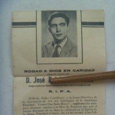 Postales: ESQUELA DE ANTIGUO ALUMNO SALESIANO . SEVILLA, 1956. Lote 122616127