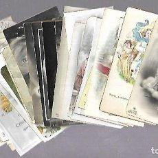 Postales: LOTE DE 30 RECORDATORIOS DE COMUNION. IMAGENES RELIGIOSAS. VER FOTOS. Lote 122640679