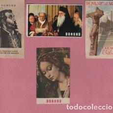 Postales: LOTE DE 4 ESTAMPAS O RECORDATORIOS DOMUND - . Lote 124399959