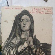 Postales: VIRGEN DE LA SOLEDAD ALBA DE TORMES POSTAL. Lote 125196335
