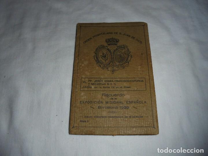 ORDEN HOSPITALARIA DE SAN JUAN DE DIOS.RECUERDO DE LA EXPOSICION MISIONAL ESPAÑOLA BARCELONA 1929. (Postales - Postales Temáticas - Religiosas y Recordatorios)