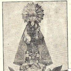 Postales: ANTIGUA Y PEQUEÑA LÁMINA NTRA. SRA. DE LOS DESAMPARADOS DE ALCOY (ALICANTE). Lote 126016055