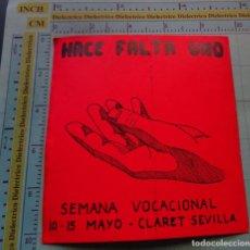 Postales: RECORDATORIO RELIGIOSO SEMANA SANTA. PEGATINA SEMANA VOCACIONAL CLARET SEVILLA. Lote 126066591