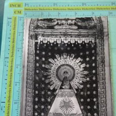 Postales: POSTAL RELIGIOSA SEMANA SANTA. AÑOS 30 50. ZARAGOZA, VIRGEN DEL PILAR. . 1892. Lote 126066863