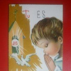 Postales: ESTAMPA RECUERDO RECORDATORIO COMUNION 1964. Lote 126652314