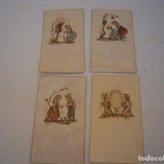 Postales: LOTE ESTAMPAS RECORDATORIOS AÑOS 40-50. Lote 126759399