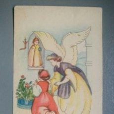 Postales: BONITA ESTAMPA RELIGIOSA ANTIGUA ANGEL DE LA GUARDA / 8,5 X 5 CM. Lote 126913364