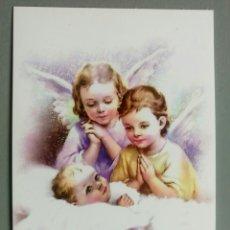 Postales: BONITA ESTAMPA RELIGIOSA ANGEL DE LA GUARDA ORACION. Lote 215372878