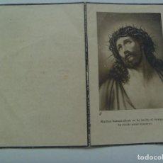 Postales: RECORDATORIO DE SEÑORA FALLECIDA EN BARCELONA EN 1949. Lote 127840083